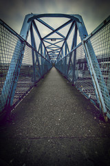 steel foot bridge