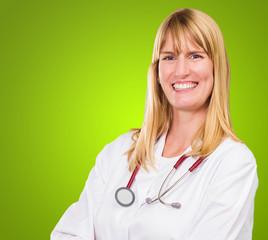 Portrait Of Happy Female Doctor