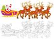 Santa Claus sledding
