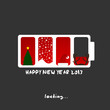 2013 new year, merry christmas design