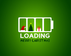 merry christmas web sale loading concept