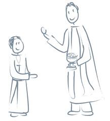 garçon première communion
