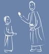 garçon bleu première communion