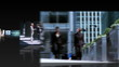 Montage 3D view featuring successful groups of business people