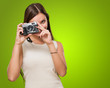 Young Woman Taking a Picture