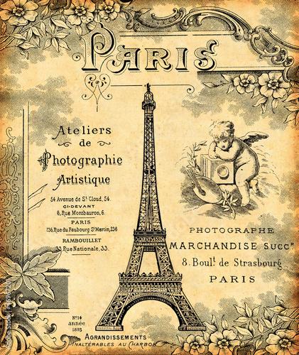 Fototapeten,paris,postkarte,hintergrund,retro