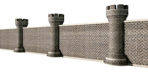 Gothic Castle Wall Perspective