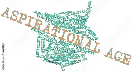 Word cloud for Aspirational age