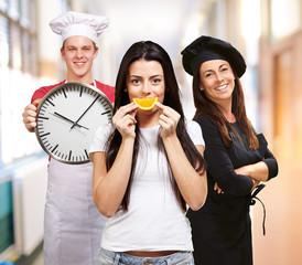 Team of kitchen