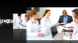Montage 3D images of  medical professional people