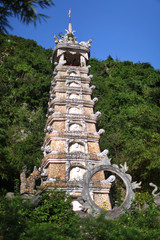 Chinese pagoda or stupa, built in levels for relics