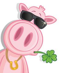Cooles Glücksschwein