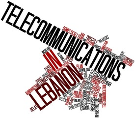 Word cloud for Telecommunications in Lebanon