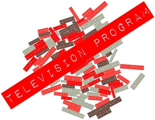 Word cloud for Television program