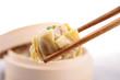 chopsticks with dimsum