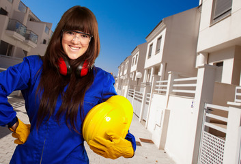 Portrait Of A Young Female Worker