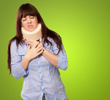 Woman Wearing Neckbrace