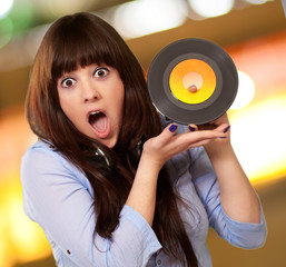 Shock Girl Showing Vinyl