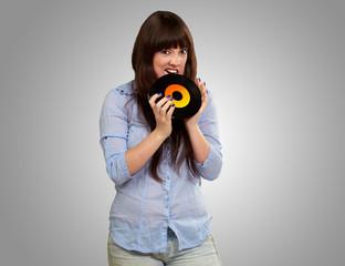 young girl Baiting vinyl