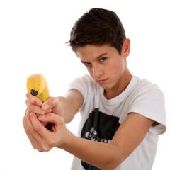 Ein Schuss mit der Banane