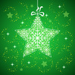 Winter star with snowflakes green