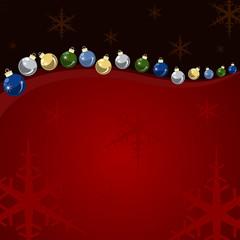 Fondo bolas y estrellas de navidad