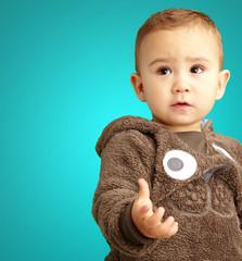 Baby Boy Wearing Warm Clothing
