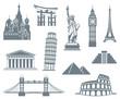 World Landmark Icon Set