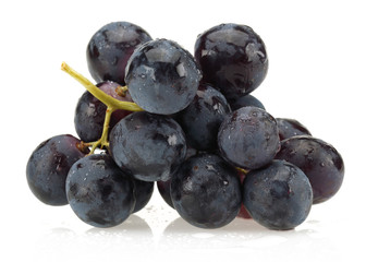 Black bunch of grapes