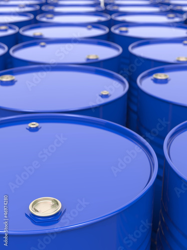 Industrial Background with Barrels.