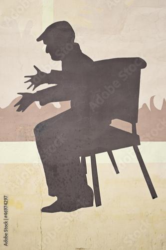 Fototapeten,silhouette,grossvater,altes schloss,wintermonat