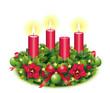 Dritter Advent / Adventskranz freigestellt