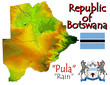 Botswana Africa national emblem map symbol motto