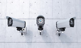 Fototapety Three Security cameras frontal view