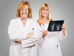 Portrait Of Happy Doctors