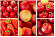 collection of red fruit and vagetable backgrounds