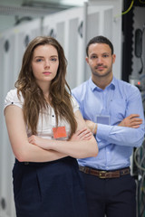 Two data center workers