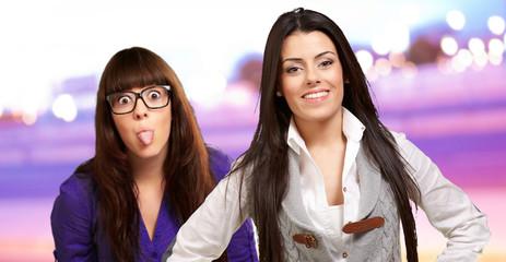 Portrait Of Two Happy Women