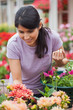 Woman shopping for plants