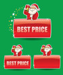 set of banners with santa