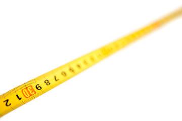 Measure tape in focus