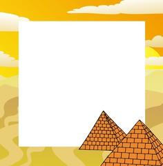 Frame with pyramids