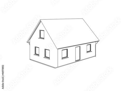 Haus zeichnung 3D