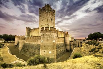 Castillo de la Mota - famous old castle in Medina del Campo, Cas