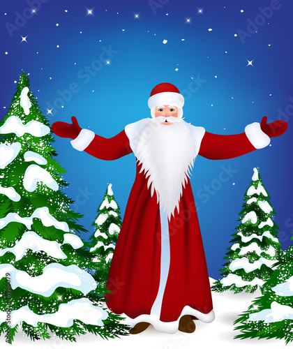 Santa Claus wishes you a Happy New Year and Merry Christmas