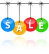 Colorful sale baubles