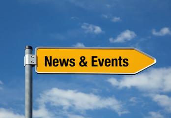 Pfeil mit blauem Himmel NEWS & EVENTS