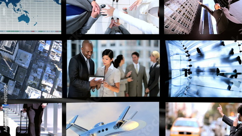 Montage of Modern Business People
