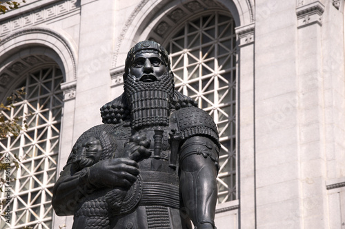 Statue of Hammurabi the Assyrian King in San Francisco  USA