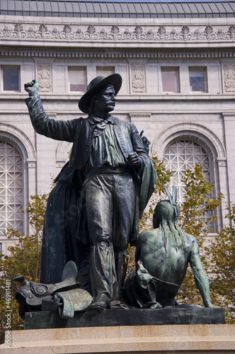 Monument to the 49s Gold Rush in San Francisco California USA
